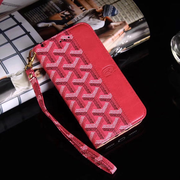 Pink Half Monogram Wallet/Card Holder