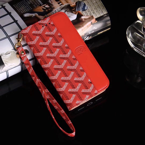 Red Half Monogram Wallet/Card Holder