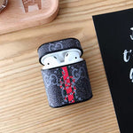 New GG Snake Black Monogram Protective Airpod Case