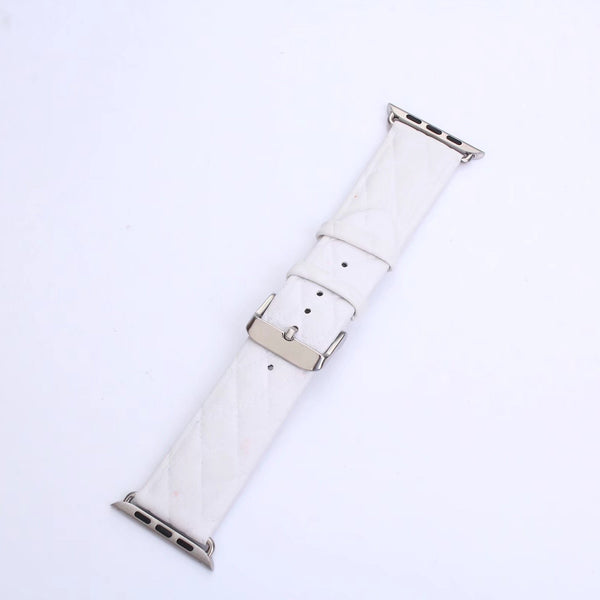 Diamond Stitch (White) Watch Band