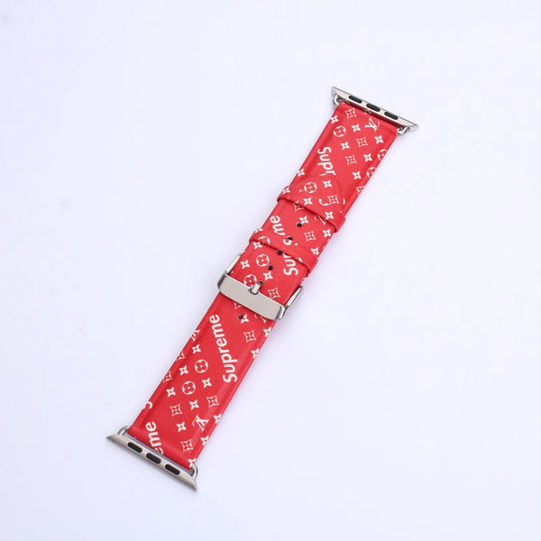 Supreme X Lv (Red) Monogram Watch Band