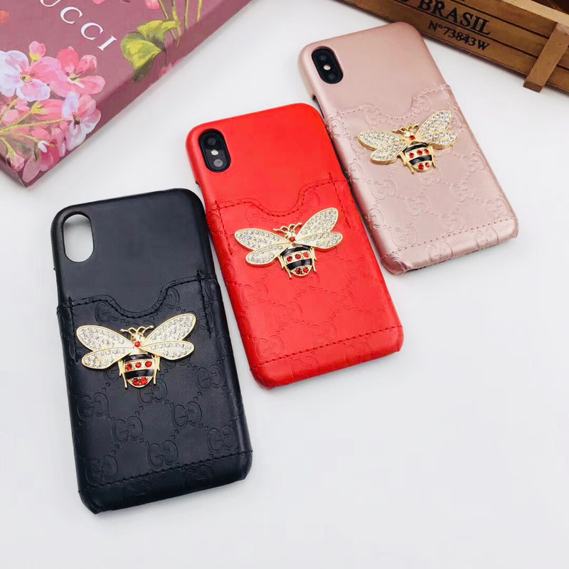 Bug Pendant GG Emboss Card Holder Case