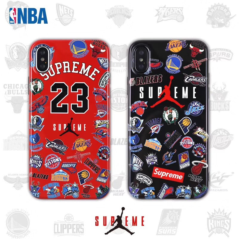 Supreme X Jordan X Nba Teams Protective Apple Airpod Case Black