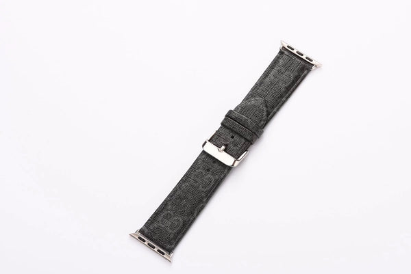 BLACK GG MONOGRAM WATCH BAND