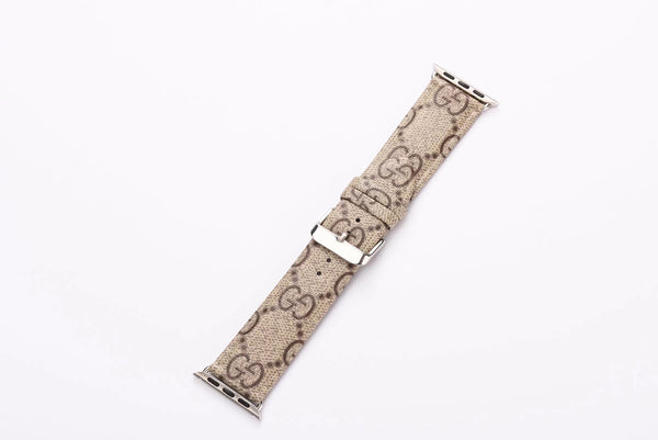 TAN GG MONOGRAM WATCH BAND