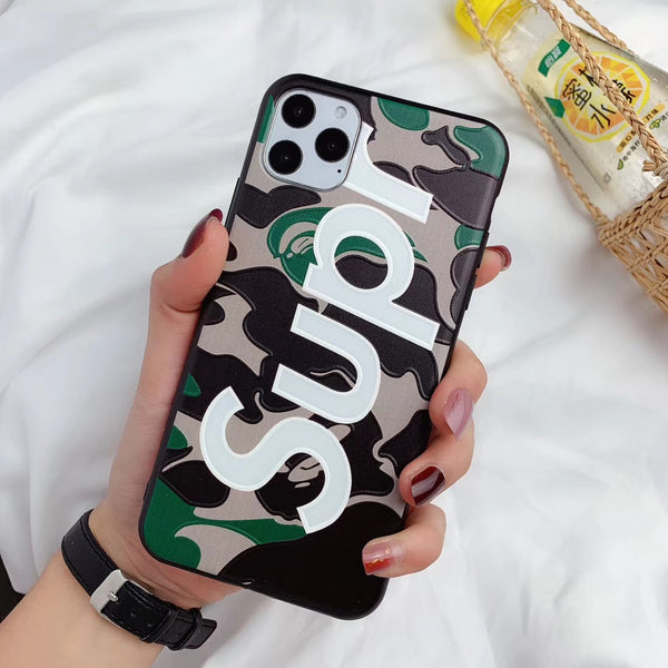 Supr Camo Protective iPhone Case - Green