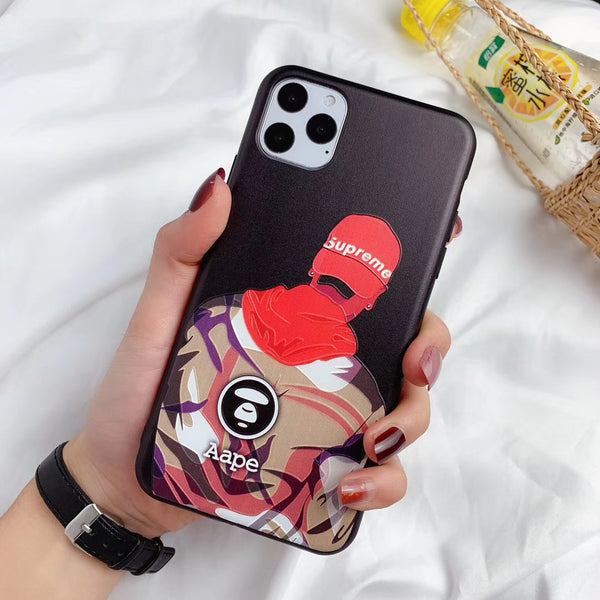 Supreme Model Protective iPhone Case - Red