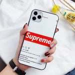 Supreme Insta Protective iPhone Case - Red