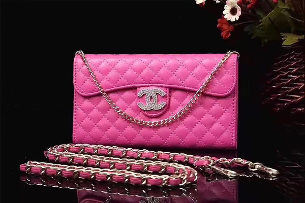 CC DIAMOND HOT PINK PURSE CASE