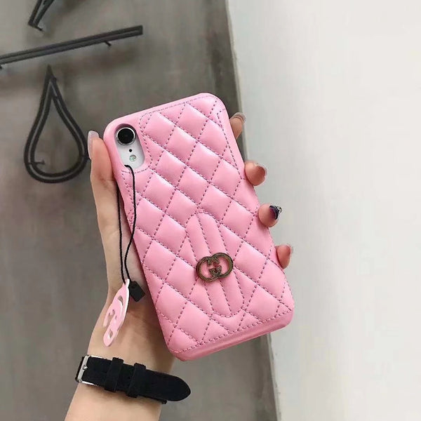 GG DIAMOND PINK KEYCHAIN CASE
