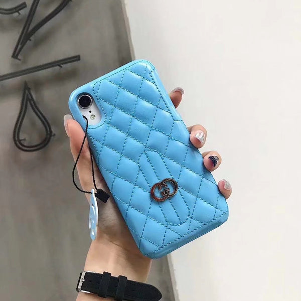 GG DIAMOND SKY BLUE KEYCHAIN CASE