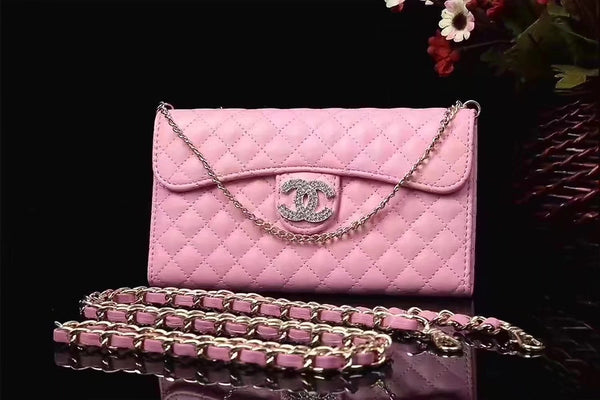 CC DIAMOND LIGHT PINK PURSE CASE