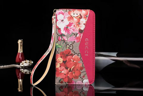 GG Flowers Wallet Protective iPhone Case ( Various Options )