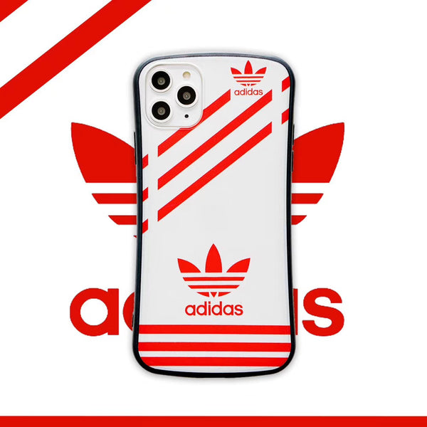 ADIDAS STRIPES PROTECTIVE IPHONE CASE - RED
