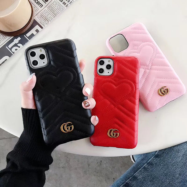 GG HEART BUBBLE PROTECTIVE IPHONE CASE