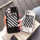 Off White Marble Style Protective iPhone Case (Various Models)