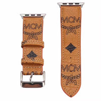 Designer Mustard M.C.M Leather Apple Watch Band