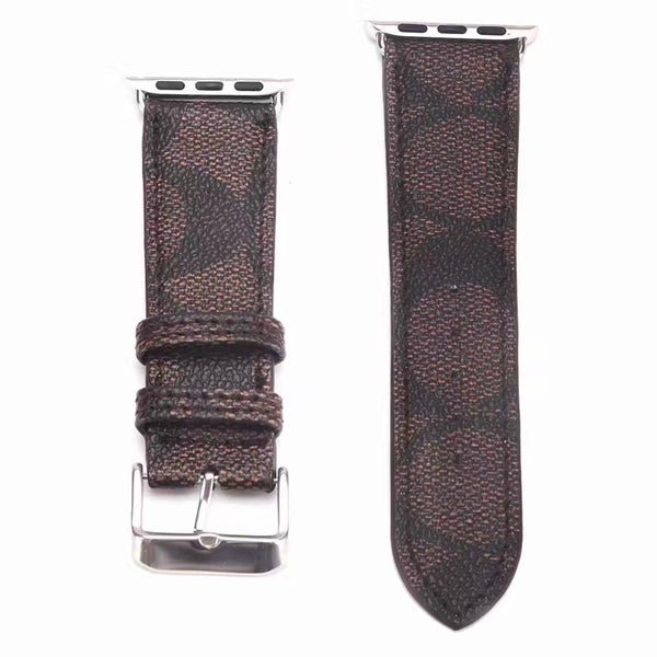 Designer Brown Coach Apple Watch Band