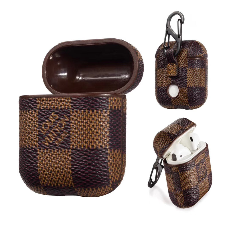 Brown Damier AirPods Leather Case - Apple Specific