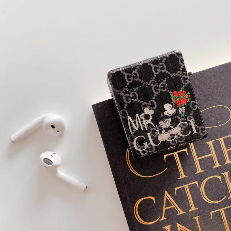 New 2020 GG Mickey Minnie Trunk Protective Apple Airpod 1 & 2 Case