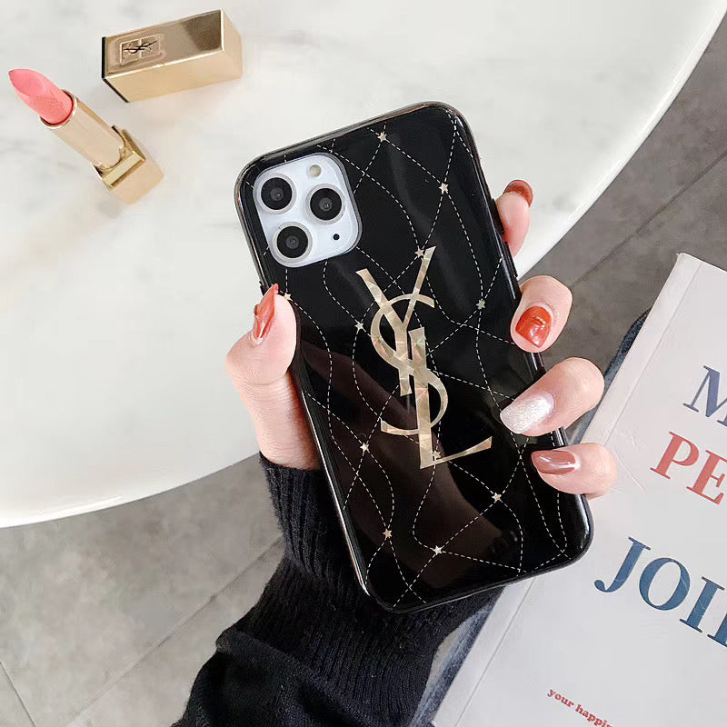 Ysl Gold Glossy Protective Apple Iphone Case
