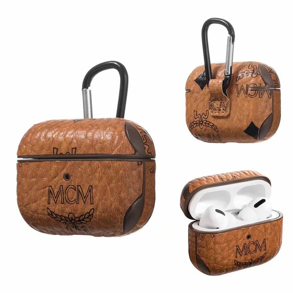 MCM Protective Apple Airpods Pro Case - Brown