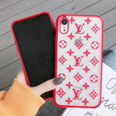 New 2020 Monogram Silicone Protective Apple Iphone Case - Red