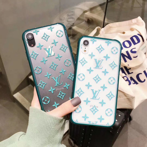 New 2020 Monogram Silicone Protective Apple Iphone Case - Aqua