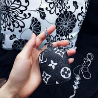 Black LV Monogram Airpods Pouch