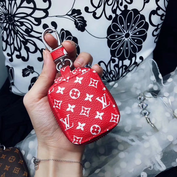 Red LV Monogram  Airpods Pouch