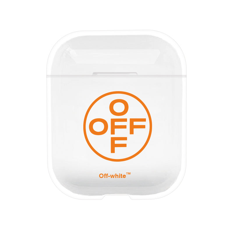 Off White Protective Tpu Apple Airpod Case - Clear
