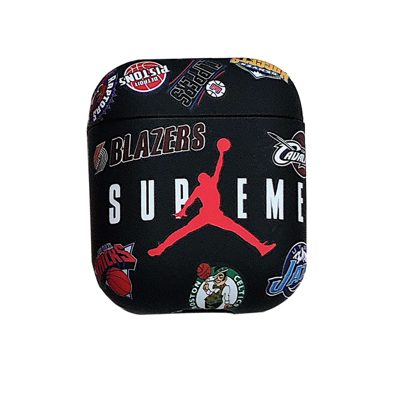 Supreme x Jordan x NBA Teams Protective Apple Airpod Case - Black