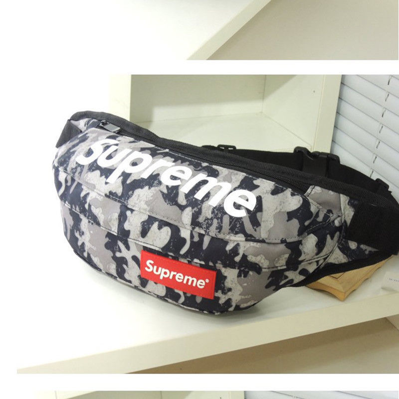 Supreme Gray Camo Fanny Pack