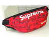 Supreme Red Camo Fanny Pack