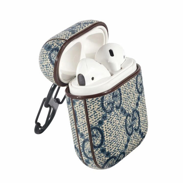 Gucci Blue Monogram Apple Airpods Case