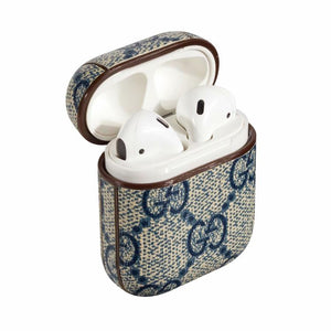 Gucci Blue Monogram Apple Airpods Case Elevatedcases