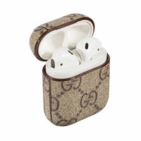 Gucci Brown Monogram Apple Airpods Case