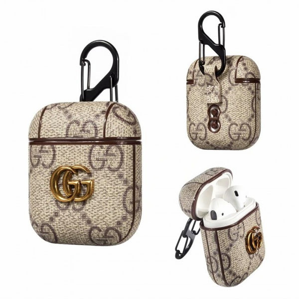 Gucci Pendant Brown Monogram Apple Airpods Case