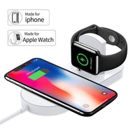 2 In 1 Qi Wireless Charge Pad (Iphone X & 8 Specific)