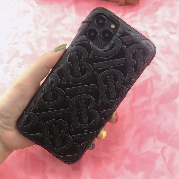 Burberry Monogram Protective Phone Case - Black