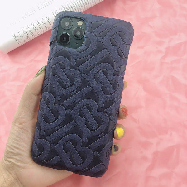 Burberry Monogram Protective Phone Case - Navy