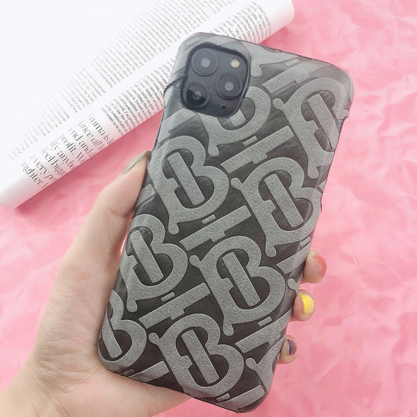 Burberry Monogram Protective Phone Case - Grey