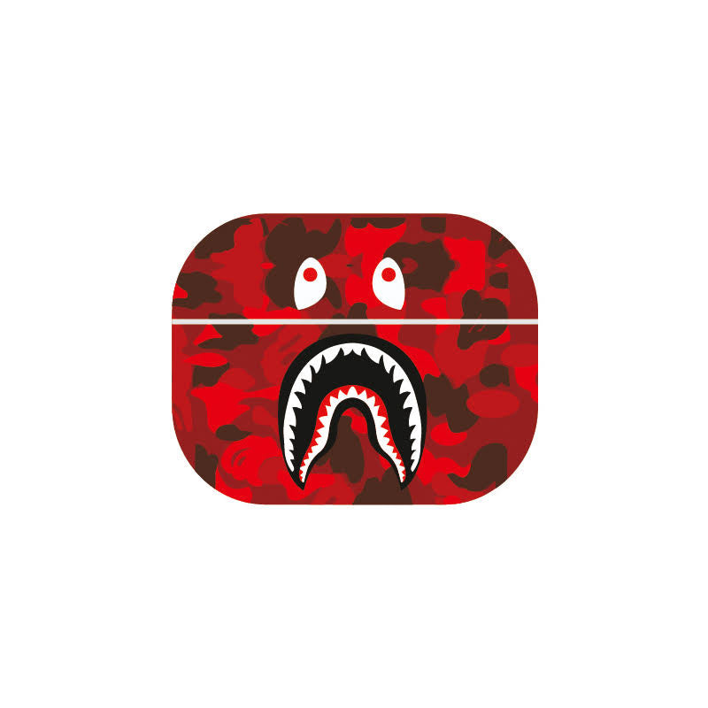 Shark Mouth Red Camo Airpods Pro Case