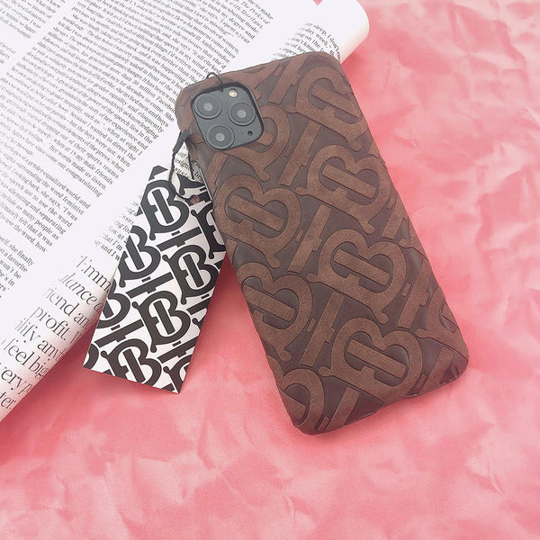 Burberry Monogram Protective Phone Case - Brown