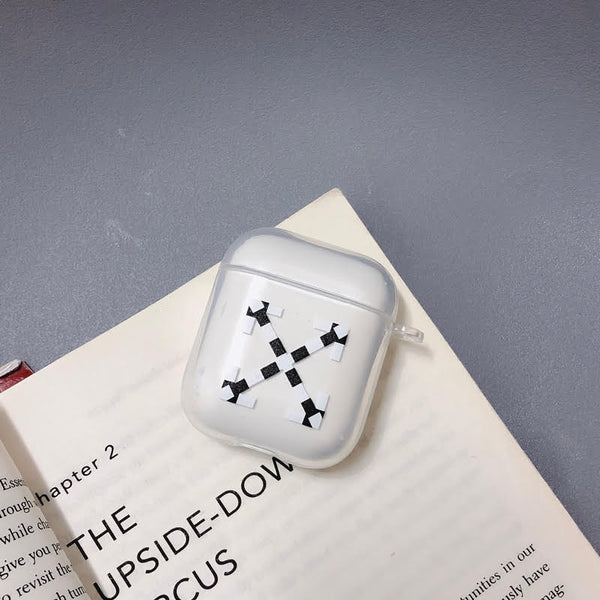 Off Checkers White Protective Apple Airpod Gen 1/2 Soft TPU Case