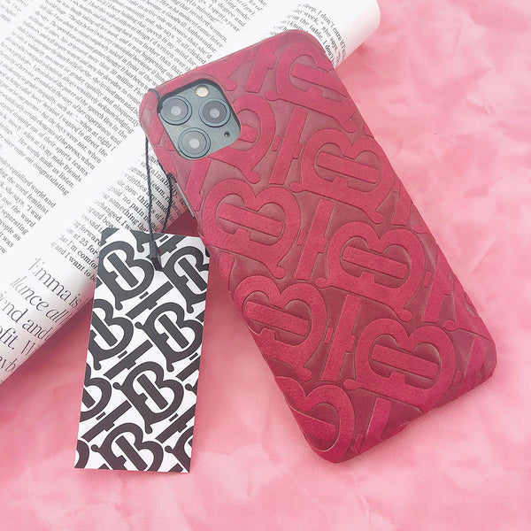Burberry Monogram Protective Phone Case - Hot Pink
