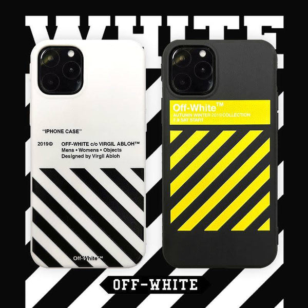 NEW IPHONE 11 OFF X WHITE GRID PROTECTIVE IPHONE CASE (Various Models)