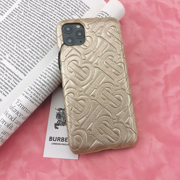 Burberry Monogram Protective Phone Case - Gold