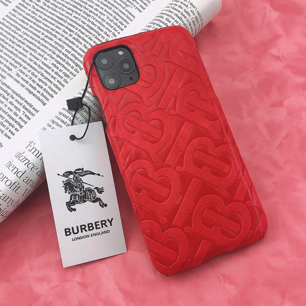 Burberry Monogram Protective Phone Case - Red