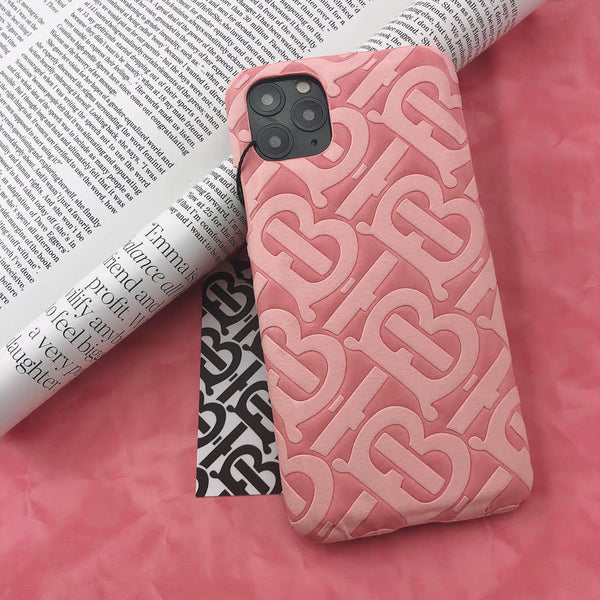 Burberry Monogram Protective Phone Case - Pink